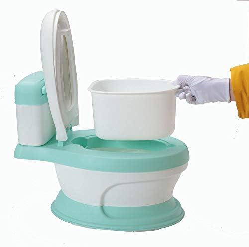 /Bleu /Pot pour b/éb/é 3/en 1/Motif canard r/éducteur de toilette avec marchepied antid/érapants et protection anti-/éclaboussure/ Babyhugs/©/