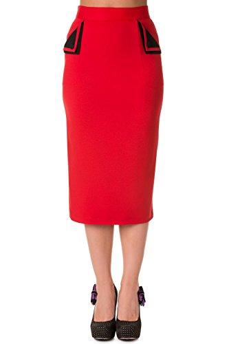 Banned - Falda - para mujer Rojo