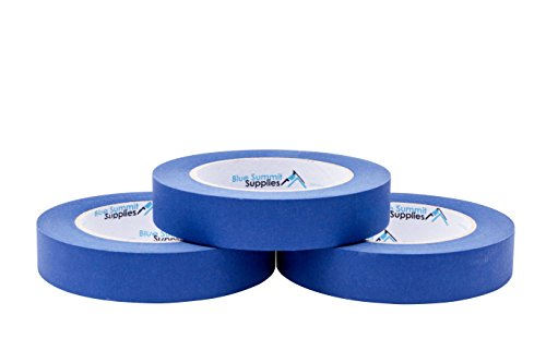 (3 Pack 0.94'' Blue Painters Tape, Medium Adhesive That Sticks Well but Leaves no Residue Behind, 60 Yards Length, 3 Rolls, 180 Total Yards)