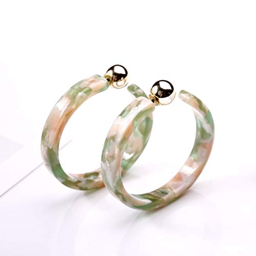 Earrings Monogrammed Round - Hoop Earrings Double Sided Ball Acrylic Circle Earrings Boho Statement Tortoise Shell Round Ear Studs For Women Girls