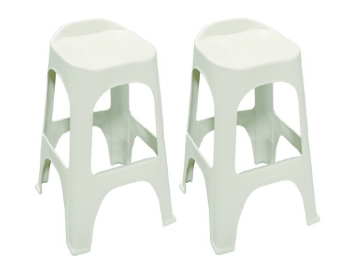 Adams Manufacturing 8350-96-3702 30 Real Comfort 2-Pack Bar Stools, Portobello