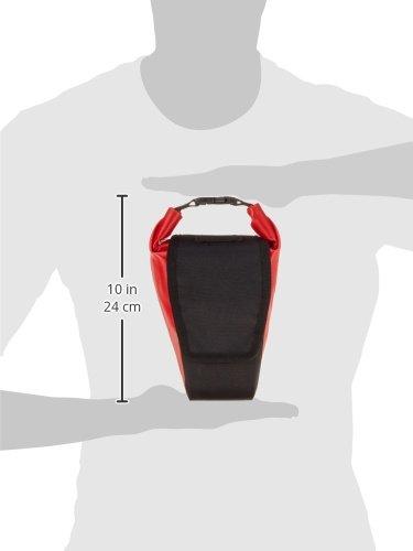 Norco Fahrradtasche Columbia Satteltasche, Rot/Schwarz, 10 x 12 x 22 cm, 1.2 Liter, 0285RS