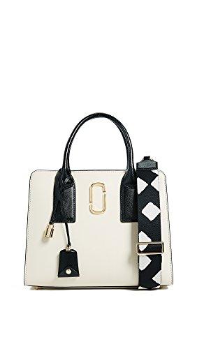 Marc Jacobs Women's Little Big Shot Satchel, Cloud White Multi, One Size - Marc Jacobs White Bag