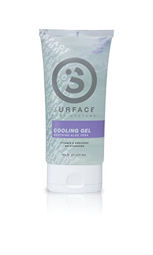 Surface Non Toxic After-Sun Aloe Vera Cooling Gel   Natural Remedy for Sunburns   Hypoallergenic, Moisturizing, and Cooling Relief   Reef and Ocean Safe