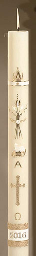 Religious Clergy No 5 Ornamented Paschal Candle