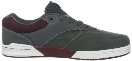 Herren Skateschuh Emerica The Heritic Skate Shoes Grau (dark grey/grey/red 160)