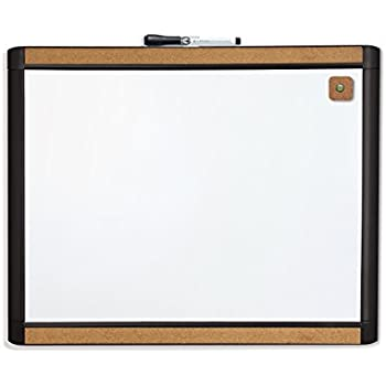 U Brands Pin-It Magnetic Dry Erase Board, 20 x 16 Inches, Black Frame