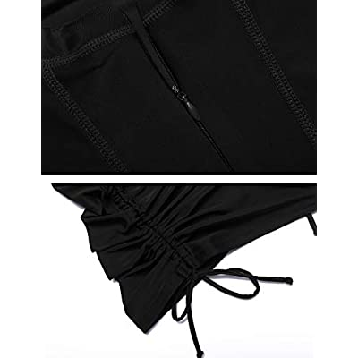 Sheshow Women's Rash Guard Sun Protection UV Surf Tops Long Sleeve Swim Shirt Zipper Adjustable: Clothing
