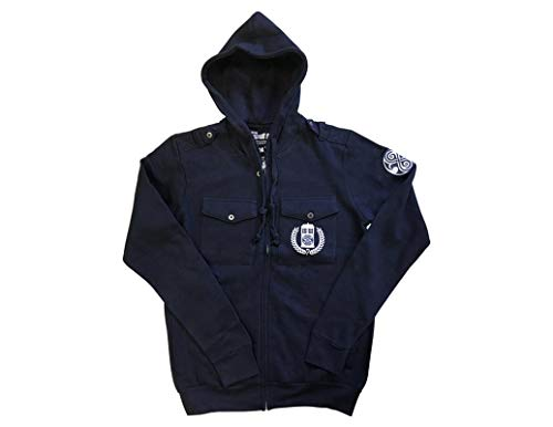 Family Zip Hoodie - Ripple Junction Doctor Who Adult Timelords Gallifrey Full Zip Fleece Hoodie XL Navy