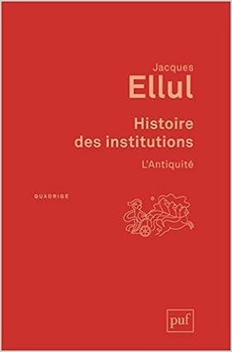 En ligne Histoire des Institutions l'Antiquite (3ed) pdf epub