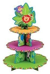 - Wilton 24 Cupcakes Treat Stand - Jungle Pals