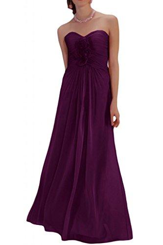 Diseño en forma de corazón de la Toscana de novia vestidos de novia de Gasa de noche flor virgen a largo bola vestidos de fiesta Traube