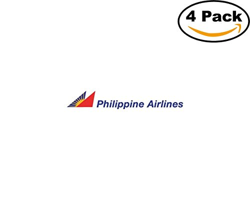 philippine airlines logo 01 4 Stickers 4x4 Inches Car Bumper Window Sticker Decal