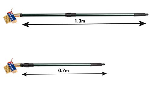 Removing Weeds Extra Long Telescopic Handle Wire Bristles and V Blade Scraper for Cleaning Grout Spear /& Jackson The Paving and Patio Cleaner Brush Moss and Build Up 1.3m Long Metal Handle
