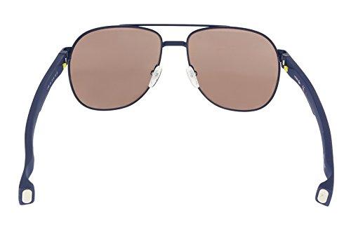de0fb694c Lacoste Men's L186s Aviator Sunglasses, Blue Matte, 57 mm - Buy ...