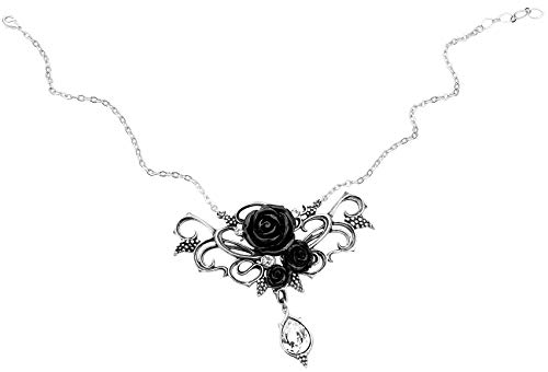 Alchemy Gothic - Bacchanal Rose - Pewter Necklace