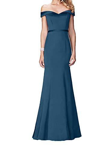 Etuikleider Tinte Festlichkleider Abendkleider Schulterfrei Gruen Abendkleider Damen Elegant Lang Charmant Blau Jaeger TZwRqRp