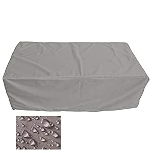Holi Europe Muebles de Jardín Premium Funda Protectora/Mesa de jardín Lona B 110cm x t 55cm x 160cm, Color Blanco