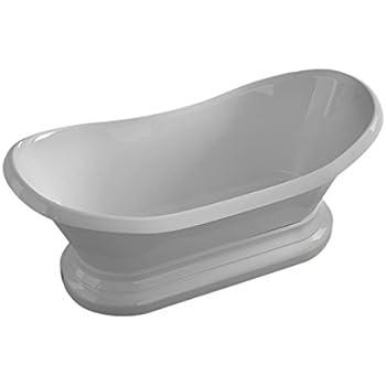 Lovely Bourdelle 34 X 71 Oval Freestanding Soaking Bathtub   Soaker Tub With Center  Drain