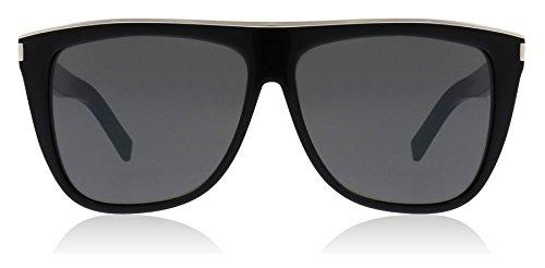 Saint Laurent SL1 COMBI 001 Black SL1 COMBI Aviator Sunglasses Lens Category - Saint Laurent Womens Sunglasses
