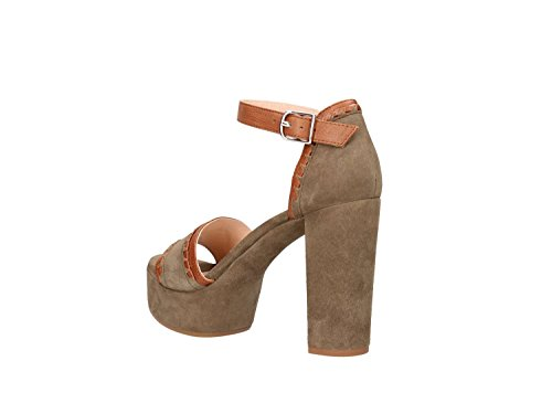 Women Cuoio Sandals High Valena Verde Heeled Unisa qx7wIfH8w