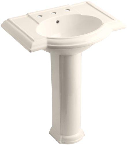 - KOHLER K-2294-8-55 Devonshire Pedestal Bathroom Sink with 8