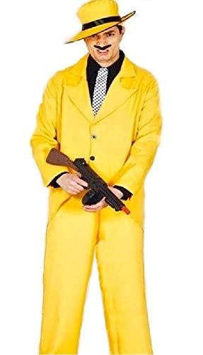Mens Yellow 1920s Gangster The Mask 1990s Comedy TV Film Halloween Fancy Dress Costume Outfit (Medium)]()