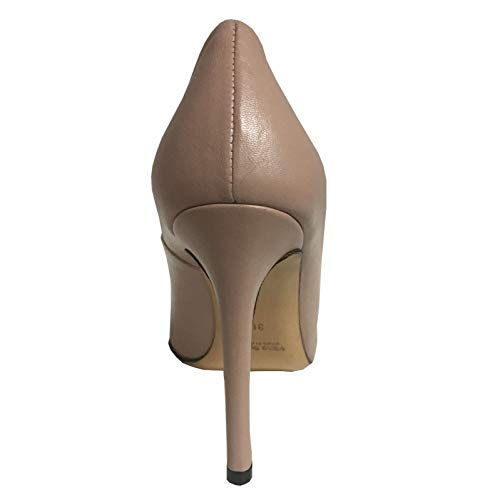 Décolleté Upper Cm Tacco 10 100 Rivestito Made Donna In Class Nude Pelle Italy 5p1qrxpT