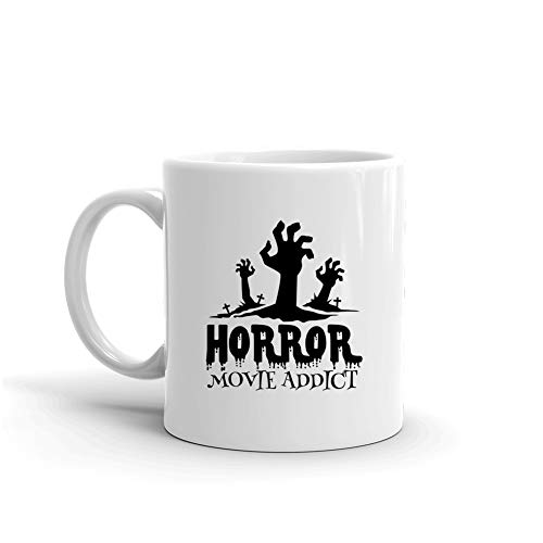 Horror Movie Addict Funny Halloween Scary Costume Festival Gift For Womens Coffee Mug for $<!--$15.95-->