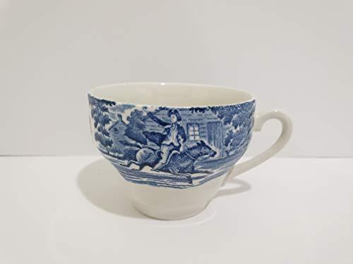 (Staffordshire Liberty Blue Flat Tea cup - Set of 4)