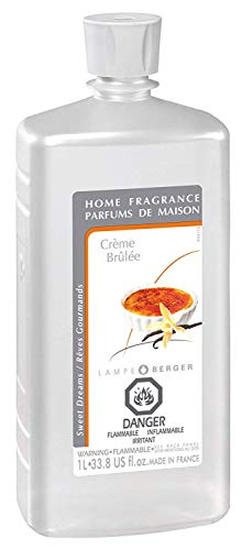 Creme Brulee | Lampe Berger Fragrance Refill for Home Fragrance Oil Diffuser | Purifying and perfuming Your Home | 33.8 Fluid Ounces - 1 Liter | Made in - Refill Creme