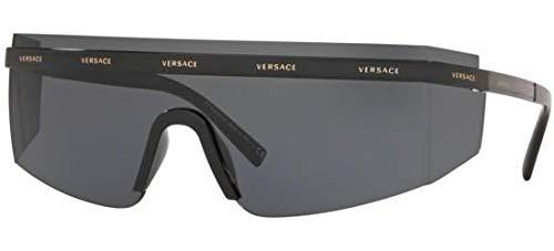 Versace Unisex VE2208 Black/Grey One Size (Versace Sonnenbrillen Shop)