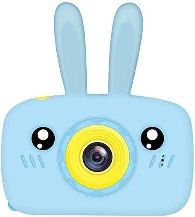 ガールズ・ボーイズ耐震のためのウサギのカバー付き4-8歳児の女の子、充電式の子供のデジタルカメラのためのキッズカメラのおもちゃ、カードベスト誕生日 (Color : Blue)