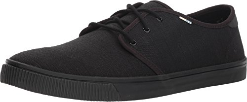 TOMS Men's Carlo Sneakers (10.5 D(M) US, Black/Black)