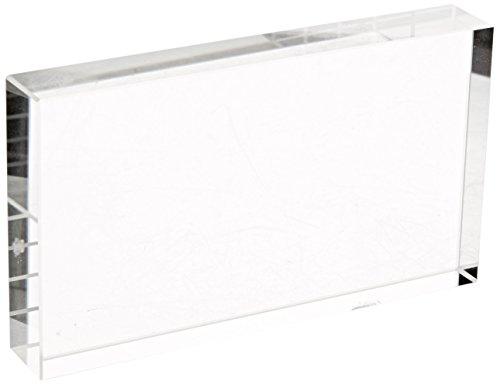 United Scientific RCB115-G Clear Glass Rectangular Block, 115mm L x 65mm W x 20mm Thick