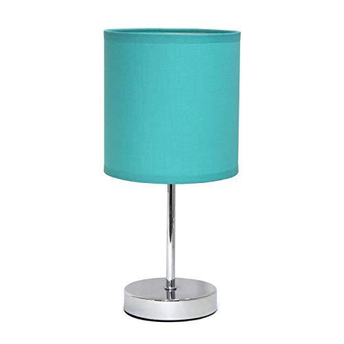 Simple Designs Home LT2007-BLU Mini Basic Table Lamp, Blue ()