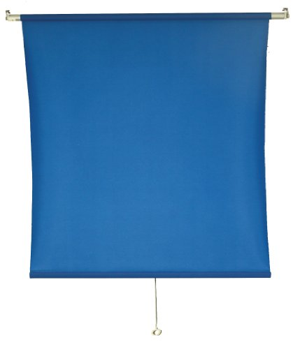 5'X8' Wall-Mounted Blue Rollup Background System