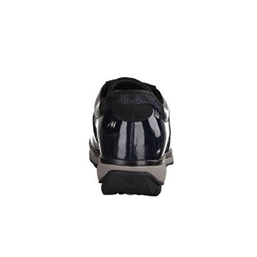 XSENSIBLE England 300012224- Bequemschuhe/Lose Einlage Damenschuhe Bequeme Schnürschuhe, Blau, stretchleder/Lack, Absatzhöhe: 20 mm