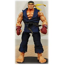 Street Fighter 4 Ryu Costumes (NECA Street Fighter IV Survival Mode RYU in alternate costume yellow head band)