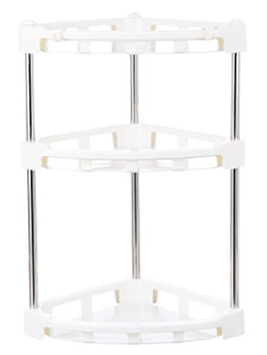 Mehousa 3-Tier Corner Storage Organizer Shelf I Best Kitchen Spice Rack, Makeup/Cosmetics Counter Organizing Stand, Bathroom Organizer with Extra-Sturdy Construction (Off White) (3-Tier) by Mehousa