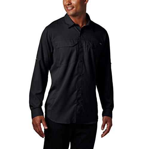 Columbia Mens Standard Silver Ridge Lite Long Sleeve Shirt, Black, Medium