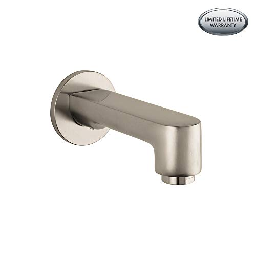 Hansgrohe 14413821 Metris S Tub Spout, Brushed Nickel (Metris Set Shower Hansgrohe)