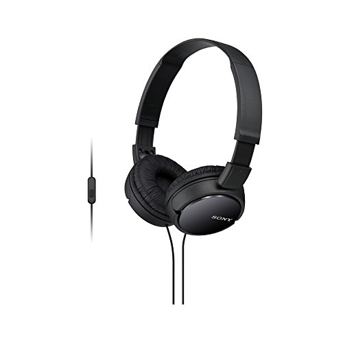 Sony Extra Bass Smartphone Headset with Mic (Black) Headphone (MDRZX110AP)