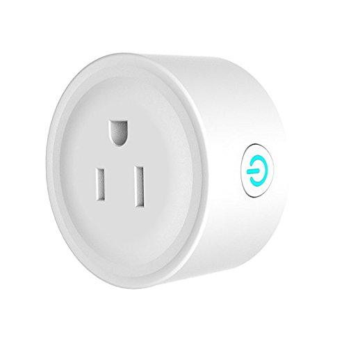 Mini Smart Plug,Smart Socket WiFi Mini Outlet Smart Switch 1 in Pack Compatible with Echo Amazon Alexa & Google Assistant, No Hub Required,White
