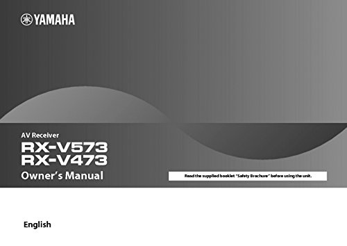 yamaha rx v473 rx v573 2 receiver owners manual plastic