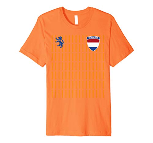 Netherlands Soccer Jersey Womens World 2019 Cup France Premium T-Shirt