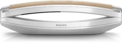 Philips M8881WW/10 M8 Design-Telefon Premium Special Edition mit AB (Farbdisplay), Holz-weiß