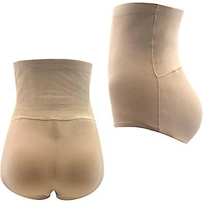 Telige Women's Seamless Butt Lifter Padded Briefs High Waist Enhancer Tummy Control Shaper Panties