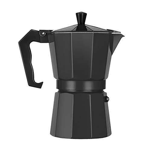 LQKYWNA Cafetera Octogonal Cafetera de café exprés Moka Mocha de Aluminio Cafetera para Oficina en el hogar de la Cocina…