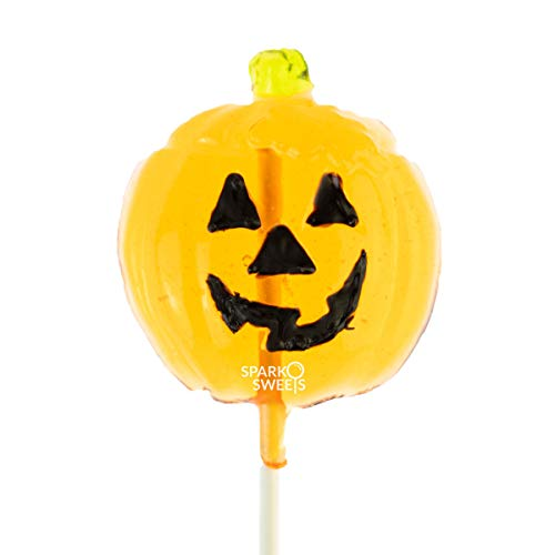 Pumpkin Head Lollipops, 10 Pieces, Handcrafted in USA, 1 lb, by Sparko Sweets ()
